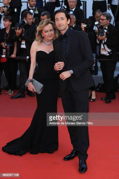 Adrien Brody and Caroline Scheufele attend the Closing Ceremony during the 70th annual Cannes Film Festival at Palais des Festivals on May 28 2017 in...