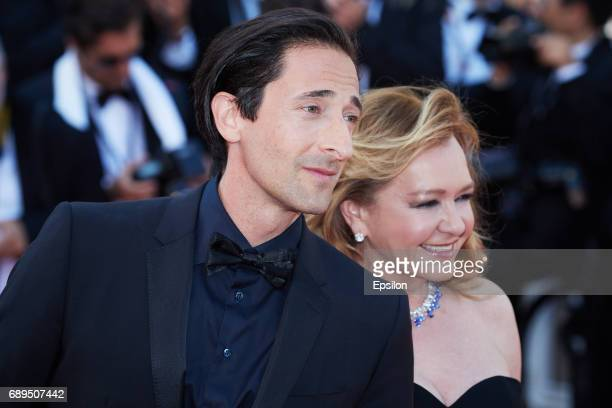 Adrien Brody and Caroline Scheufele attends the Closing Ceremony of the 70th annual Cannes Film Festival at Palais des Festivals on May 28 2017 in...