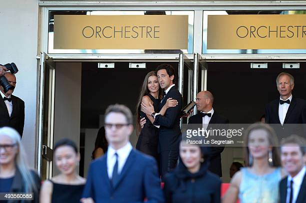 Adrien Brody and his girlfriend Lara Leito attend the Closing Ceremony and 'A Fistful of Dollars' screening during the 67th Annual Cannes Film...