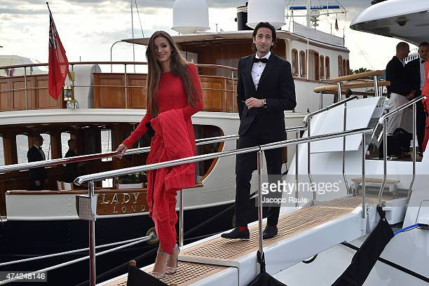 Adrien Brody and Lara Leito are seen on day 9 of the 68th annual Cannes Film Festival on May 21 2015 in Cannes France