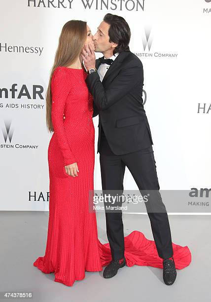 Adrien Brody and Lara Leito attend amfAR's 22nd Cinema Against AIDS Gala Presented By Bold Films And Harry Winston at Hotel du CapEdenRoc on May 21...