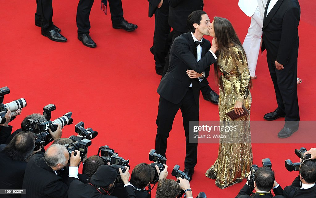 Adrien Brody and Lara Lieto attend the 'Cleopatra' premiere during The 66th Annual Cannes Film Festival at The 60th Anniversary Theatre on May 21, 2013 in Cannes, France.