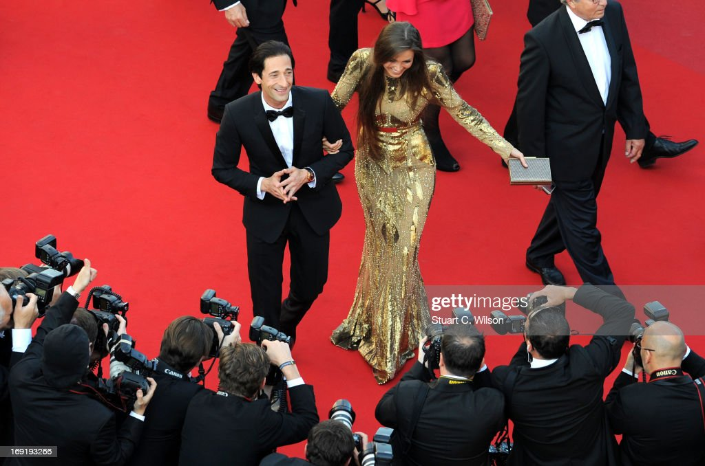 <a gi-track='captionPersonalityLinkClicked' href=/galleries/search?phrase=Adrien+Brody&family=editorial&specificpeople=202175 ng-click='$event.stopPropagation()'>Adrien Brody</a> and Lara Leito attend the 'Cleopatra' premiere during The 66th Annual Cannes Film Festival at The 60th Anniversary Theatre on May 21, 2013 in Cannes, France.