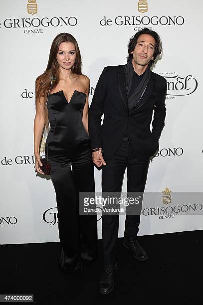 Adrien Brody and Lara Leito attend the De Grisogono party during the 68th annual Cannes Film Festival on May 19 2015 in Cap d'Antibes France