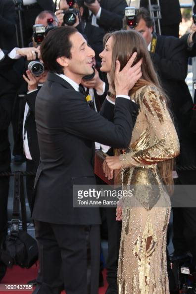 Adrien Brody and Lara Leito attend the Premiere of 'Cleopatra' during the 66th Annual Cannes Film Festival at the Palais des Festivals on May 21 2013...