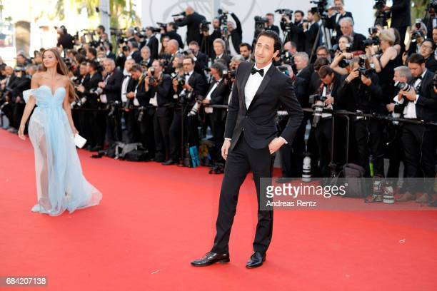 Adrien Brody and Lara Lieto attend the 'Ismael's Ghosts ' screening and Opening Gala during the 70th annual Cannes Film Festival at Palais des...