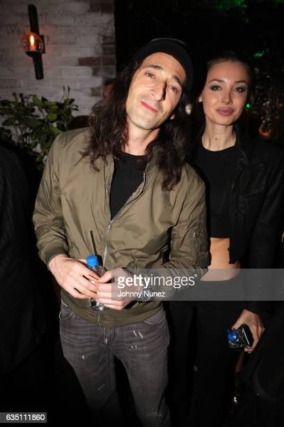 Adrien Brody and Lara Lieto attend the Republic Records GRAMMY After Party at Catch LA on February 12 2017 in West Hollywood California