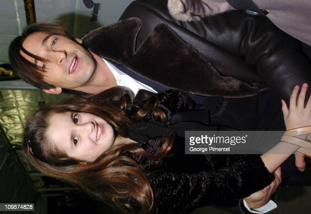 Adrien Brody and Laura Marano during 2005 Sundance Film Festival 'The Jacket' Premiere at Eccles Theatre in Park City Utah United States