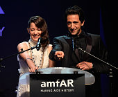 Adrien Brody and Marion Cotillard attend amfAR's 21st Cinema Against AIDS Gala Presented By WORLDVIEW BOLD FILMS And BVLGARI at Hotel du CapEdenRoc...