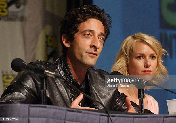 Adrien Brody and Naomi Watts during 36th Annual ComicCon International Day Three at San Diego Convention Center in San Diego California United States