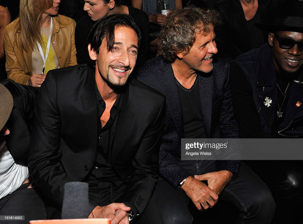 <a gi-track='captionPersonalityLinkClicked' href=/galleries/search?phrase=Adrien+Brody&family=editorial&specificpeople=202175 ng-click='$event.stopPropagation()'>Adrien Brody</a> and <a gi-track='captionPersonalityLinkClicked' href=/galleries/search?phrase=Renzo+Rosso&family=editorial&specificpeople=614354 ng-click='$event.stopPropagation()'>Renzo Rosso</a> attends the Diesel Black Gold Runway Show during the Spring 2013 Mercedes-Benz Fashion Week on September 11, 2012 in New York City.
