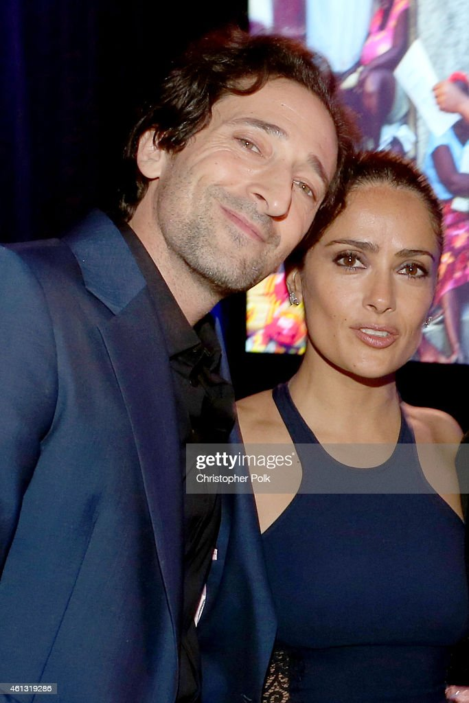 Adrien Brody and Salma Hayek attend the 4th Annual Sean Penn Friends HELP HAITI HOME Gala Benefiting J/P Haitian Relief Organization on January 10...