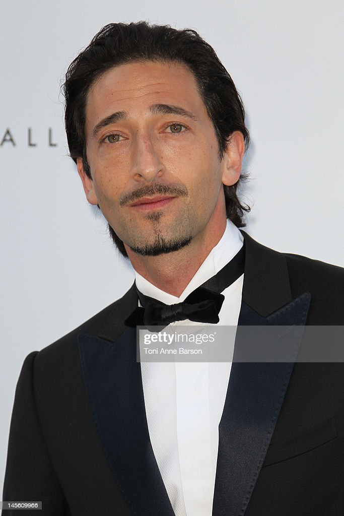 <a gi-track='captionPersonalityLinkClicked' href=/galleries/search?phrase=Adrien+Brody&family=editorial&specificpeople=202175 ng-click='$event.stopPropagation()'>Adrien Brody</a> arrives at amfAR's Cinema Against AIDS at Hotel Du Cap on May 24, 2012 in Antibes, France.