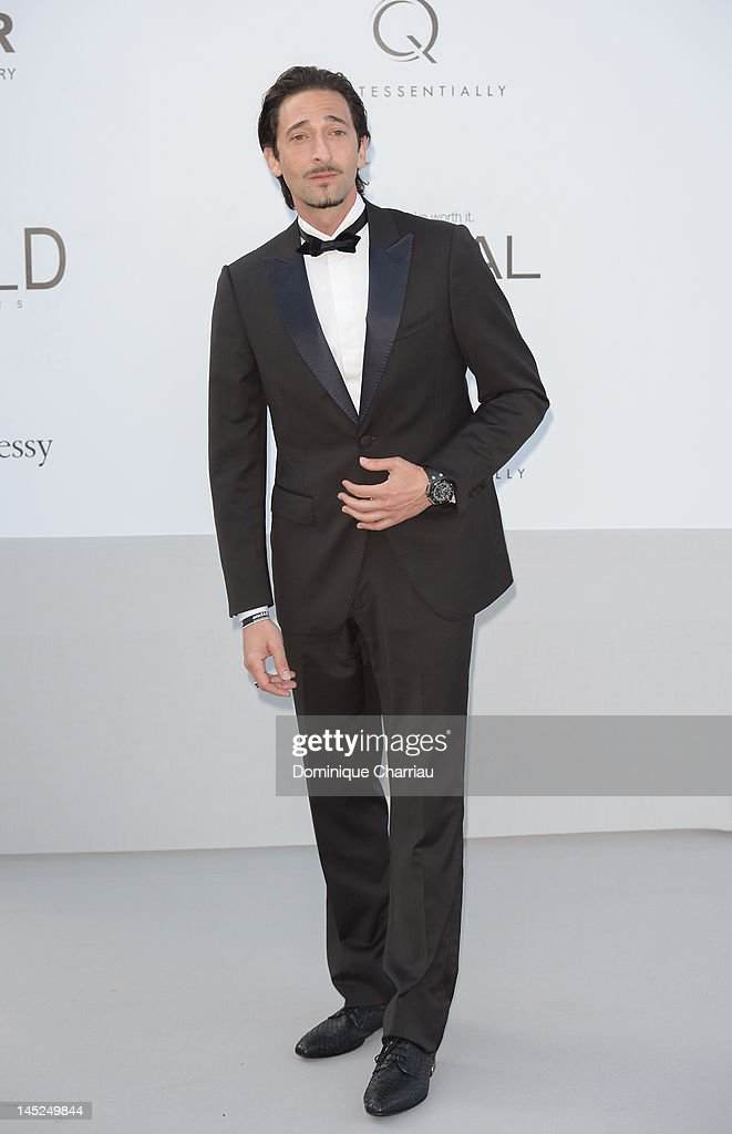 <a gi-track='captionPersonalityLinkClicked' href=/galleries/search?phrase=Adrien+Brody&family=editorial&specificpeople=202175 ng-click='$event.stopPropagation()'>Adrien Brody</a> arrives at the 2012 amfAR's Cinema Against AIDS during the 65th Annual Cannes Film Festival at Hotel Du Cap on May 24, 2012 in Cap D'Antibes, France.