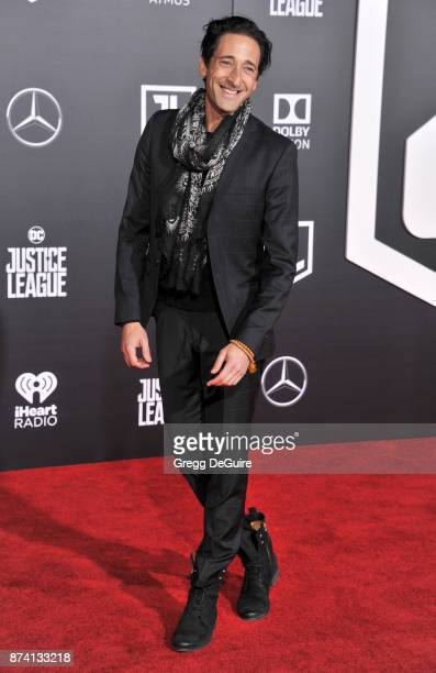 Adrien Brody arrives at the premiere of Warner Bros Pictures' 'Justice League' at Dolby Theatre on November 13 2017 in Hollywood California
