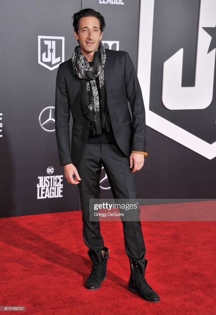 Adrien Brody arrives at the premiere of Warner Bros. Pictures' 'Justice League' at Dolby Theatre on November 13, 2017 in Hollywood, California.