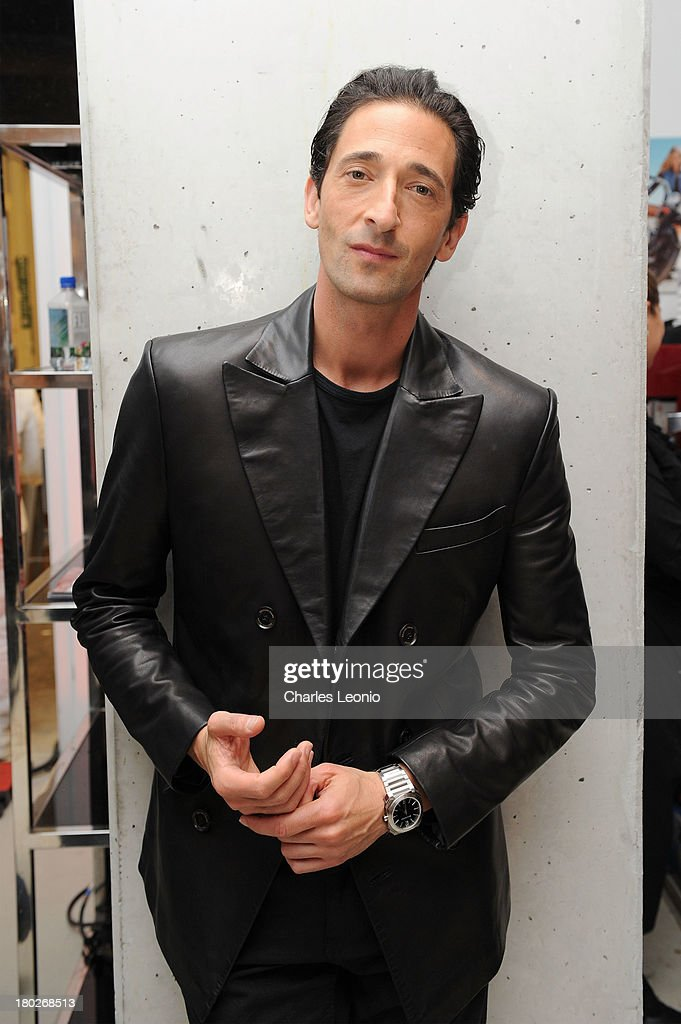 <a gi-track='captionPersonalityLinkClicked' href=/galleries/search?phrase=Adrien+Brody&family=editorial&specificpeople=202175 ng-click='$event.stopPropagation()'>Adrien Brody</a> at Guess Portrait Studio on Day 6 during the 2013 Toronto International Film Festival at Bell Lightbox on September 10, 2013 in Toronto, Canada.
