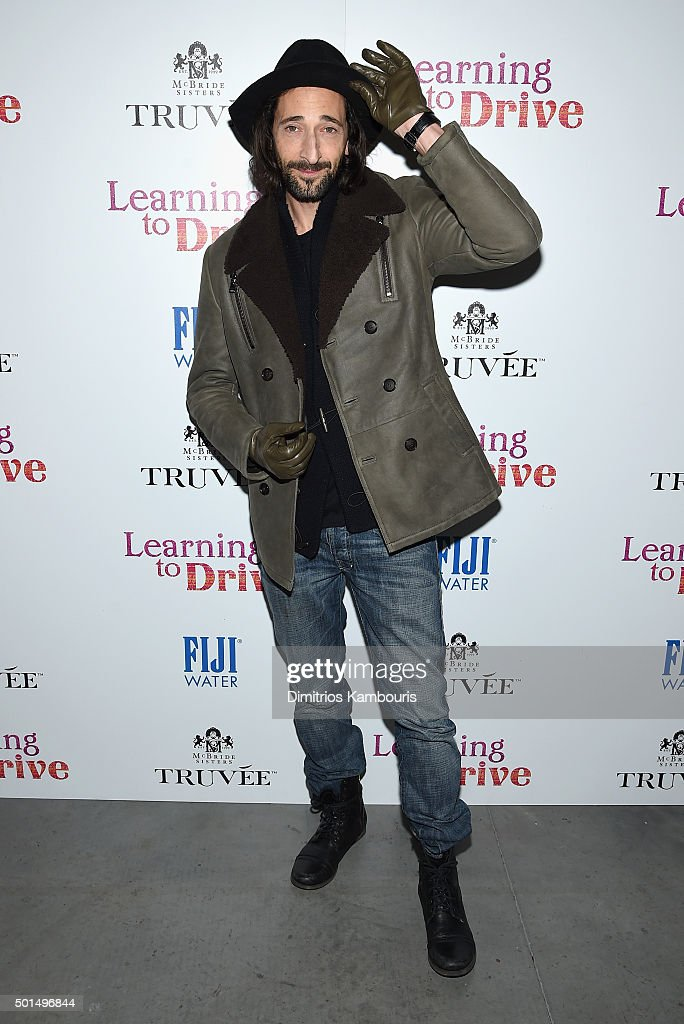 Adrien Brody attends A Celebration for Patricia Clarkson, Presented by FIJI Water and Truvee Wines on December 15, 2015 in New York City.