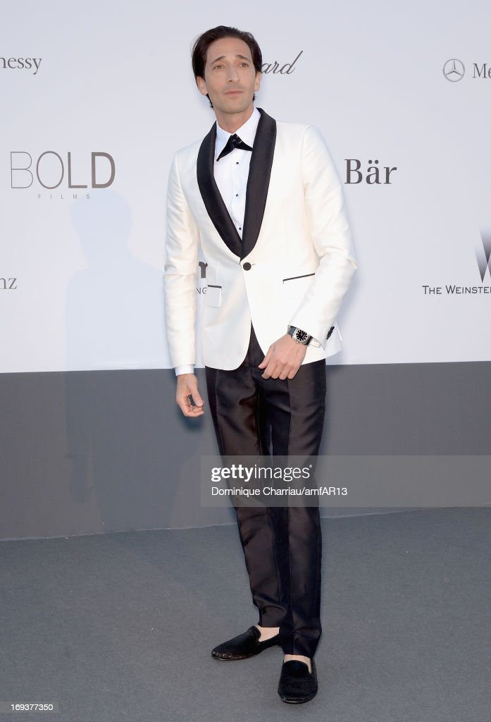 Adrien Brody attends amfAR's 20th Annual Cinema Against AIDS during The 66th Annual Cannes Film Festival at Hotel du Cap-Eden-Roc on May 23, 2013 in Cap d'Antibes, France.