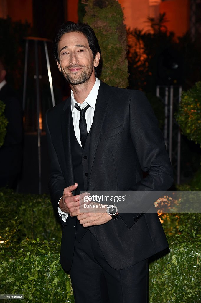 <a gi-track='captionPersonalityLinkClicked' href=/galleries/search?phrase=Adrien+Brody&family=editorial&specificpeople=202175 ng-click='$event.stopPropagation()'>Adrien Brody</a> attends 'Bvlgari Celebrates 130 Years In Rome' at Via Condotti on March 20, 2014 in Rome, Italy.