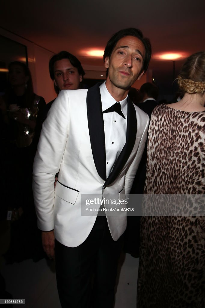 <a gi-track='captionPersonalityLinkClicked' href=/galleries/search?phrase=Adrien+Brody&family=editorial&specificpeople=202175 ng-click='$event.stopPropagation()'>Adrien Brody</a> attends 'Moncler, The After Party To Benefit amfAR' during The 66th Annual Cannes Film Festival at Hotel du Cap-Eden-Roc on May 23, 2013 in Cap d'Antibes, France.