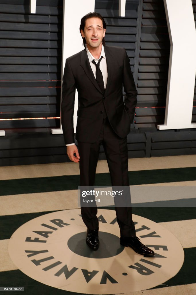 Adrien Brody attends the 2017 Vanity Fair Oscar Party at Wallis Annenberg Center for the Performing Arts on February 26, 2017 in Beverly Hills, California.