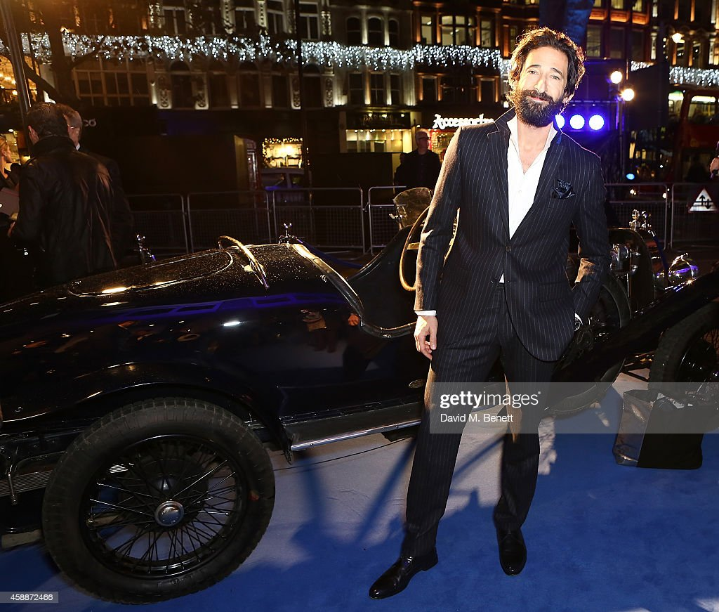 <a gi-track='captionPersonalityLinkClicked' href=/galleries/search?phrase=Adrien+Brody&family=editorial&specificpeople=202175 ng-click='$event.stopPropagation()'>Adrien Brody</a> attends the Blue of London celebrating the world's first Bugatti Lifestyle Boutique opening at Brompton Road on November 12, 2014 in London, England.