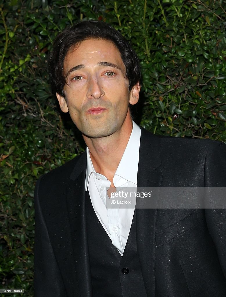 <a gi-track='captionPersonalityLinkClicked' href=/galleries/search?phrase=Adrien+Brody&family=editorial&specificpeople=202175 ng-click='$event.stopPropagation()'>Adrien Brody</a> attends the Chanel Charles Finch Pre-Oscar Dinner held at Madeo Restaurant on March 1, 2014 in Los Angeles, California.