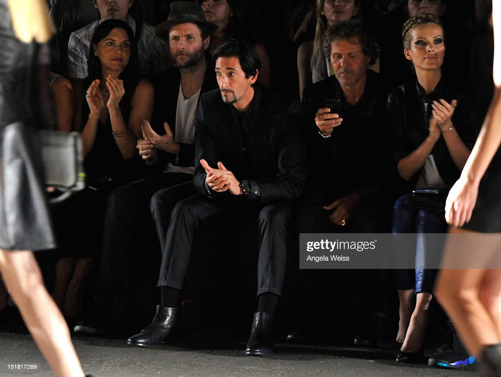 <a gi-track='captionPersonalityLinkClicked' href=/galleries/search?phrase=Adrien+Brody&family=editorial&specificpeople=202175 ng-click='$event.stopPropagation()'>Adrien Brody</a> attends the Diesel Black Gold Runway Show during the Spring 2013 Mercedes-Benz Fashion Week on September 11, 2012 in New York City.