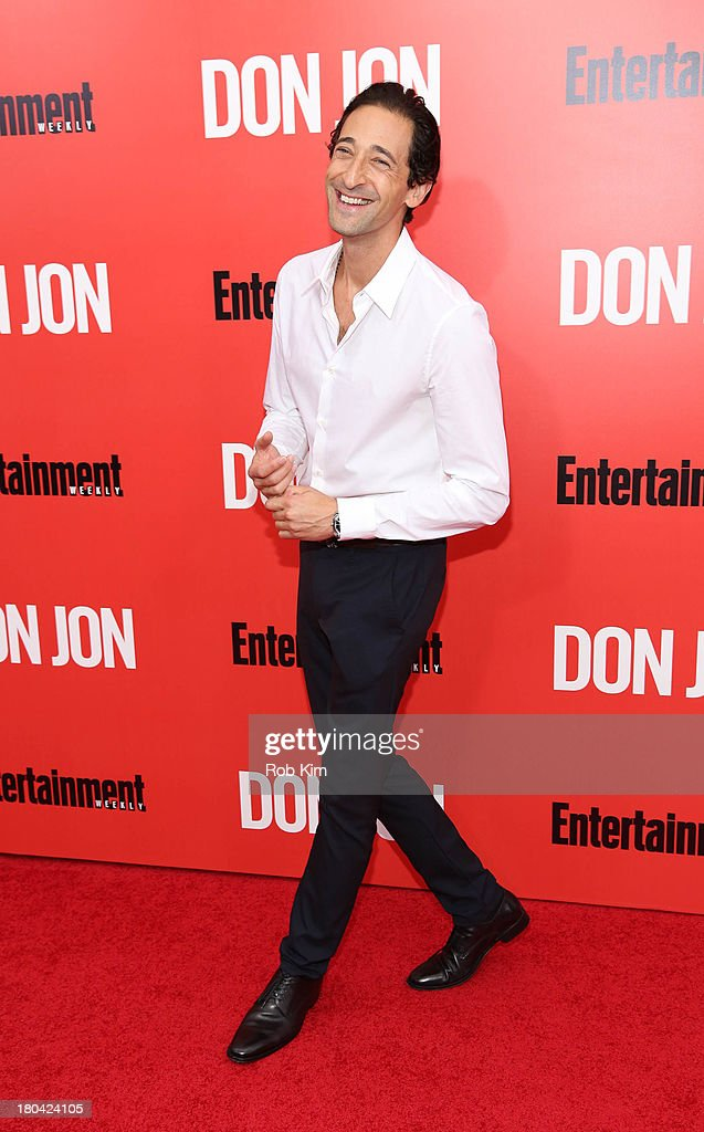<a gi-track='captionPersonalityLinkClicked' href=/galleries/search?phrase=Adrien+Brody&family=editorial&specificpeople=202175 ng-click='$event.stopPropagation()'>Adrien Brody</a> attends the 'Don Jon' New York premiere at SVA Theater on September 12, 2013 in New York City.