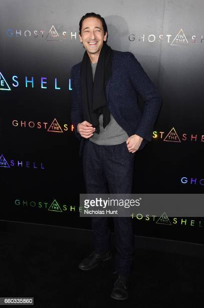 Adrien Brody attends the 'Ghost In The Shell' premiere hosted by Paramount Pictures DreamWorks Pictures at AMC Lincoln Square Theater on March 29...