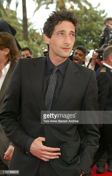 Adrien Brody during 2004 Cannes Film Festival 'Zivot Je Cudo' Premiere at Palais Du Festival in Cannes France