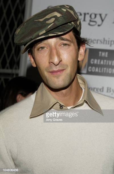 Adrien Brody during Cannes 2002 Creative Coalition Party at The Synergy House in Cannes France