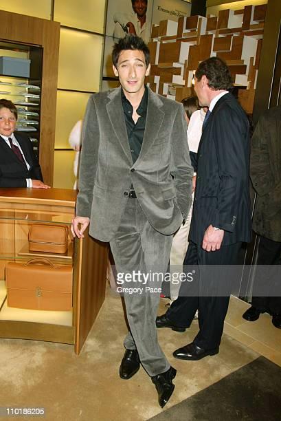Adrien Brody during Ermenegildo Zegna Flagship Store Opening in New York City at Ermenegildo Zegna 663 5th Avenue in New York City New York United...