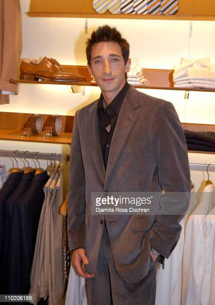 Adrien Brody during Ermenegildo Zegna Flagship Store Opening in New York City at 663 5th Avenue in New York City New York United States