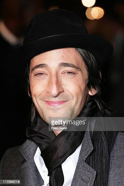 Adrien Brody during 'King Kong' London Premiere Arrivals at Odeon Leicester Square in London Great Britain