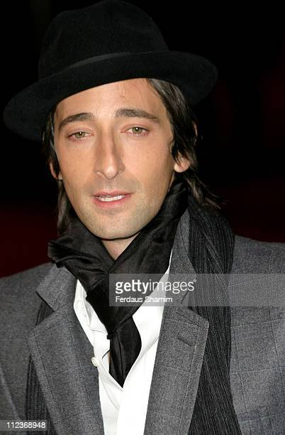 Adrien Brody during 'King Kong' London Premiere Outside Arrivals at Odeon Leicester Square in London Great Britain