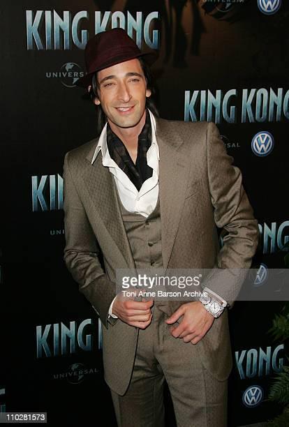 Adrien Brody during 'King Kong' Paris Premiere Arrivals in Paris France