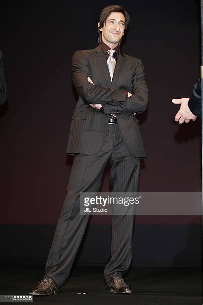 Adrien Brody during 'King Kong' Tokyo Premiere Inside at Tokyo International Forum in Tokyo Japan