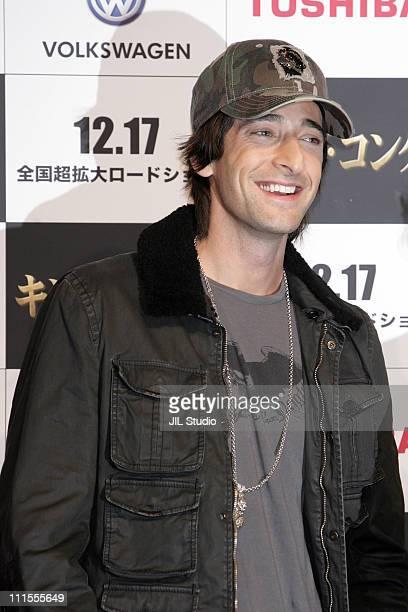 Adrien Brody during 'King Kong' Tokyo Press Conference at Park Hyatt Tokyo in Tokyo Japan