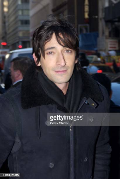 Adrien Brody during Mary J Blige and Adrien Brody Visit the 'Today' Show November 23 2005 at Today Show in New York City New York United States