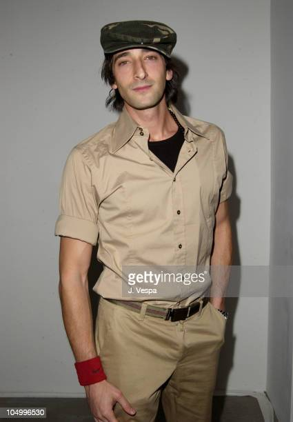 Adrien Brody during Michel Comte's Benefit and Auction for People and Places With No Name Party at Ace Gallery in Los Angeles California United States