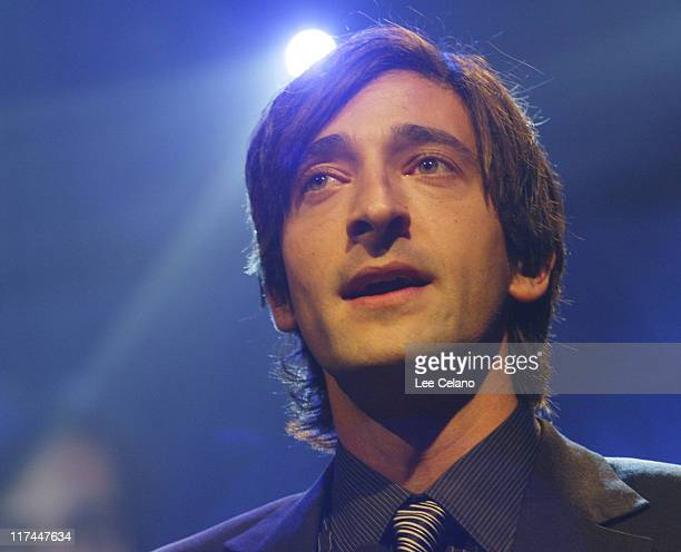 Adrien Brody during Palm Springs International Film Festival Awards Gala presented by Tiffany Co s Show at Palm Springs Convention Center in Palm...