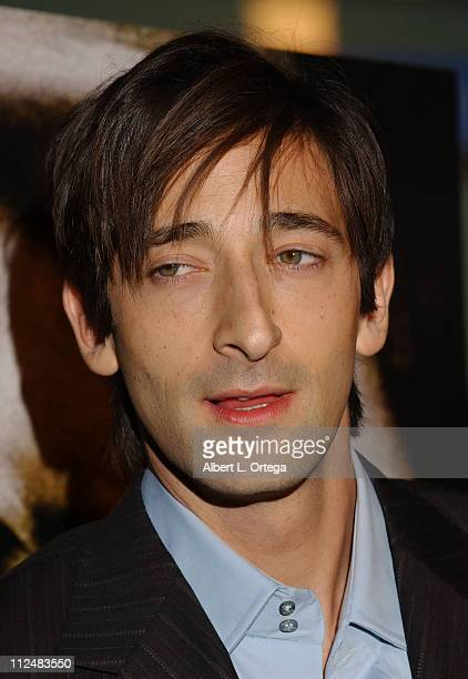 Adrien Brody during 'The Jacket' Los Angeles Premiere Arrivals at ArcLight Theater in Hollywood CA United States