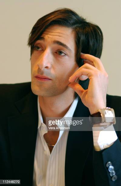 Adrien Brody during 'The Jacket' Press Conference with Adrien Brody at Four Seasons Hotel in Beverly Hills California United States