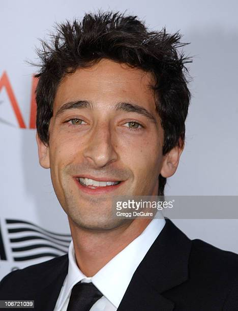 Adrien Brody during USA Network Presents 2004 AFI Lifetime Achievement Award A Tribute to Meryl Streep Arrivals at The Kodak Theater in Hollywood...