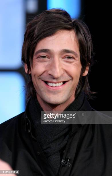 Adrien Brody from 'King Kong' during The Cast of 'King Kong' and Gisele Bundchen Visit MTV's 'TRL' December 5 2005 at MTV Studios Times Square in New...