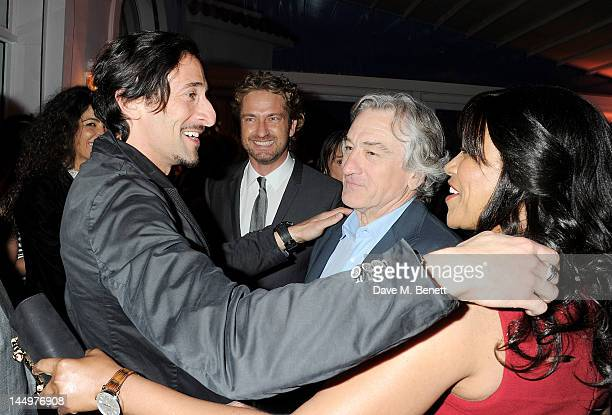 Adrien Brody Gerard Butler Robert De Niro and Grace Hightower attend the IWC and Finch's Quarterly Review Annual Filmmakers Dinner at Hotel Du...