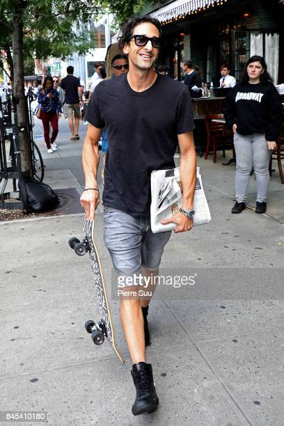 Adrien Brody is spotted in Soho on September 10 2017 in New York City