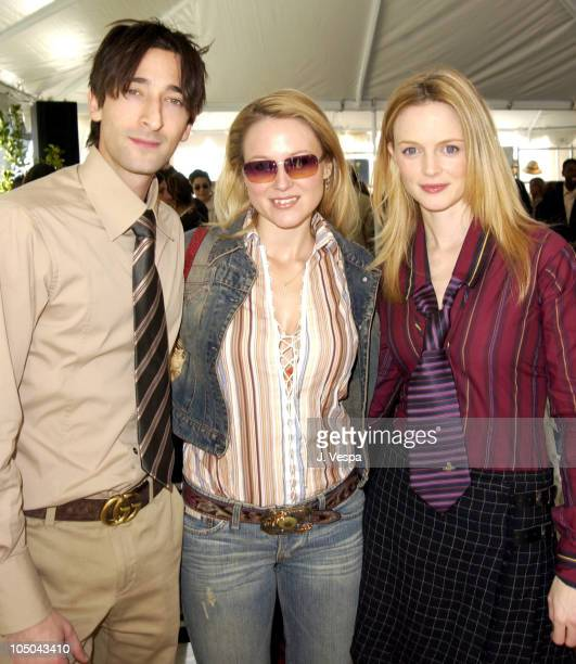 Adrien Brody Jewel and Heather Graham during Coach Luncheon to Benefit Peace Games at Quincy Jones' House in Bel Air California United States